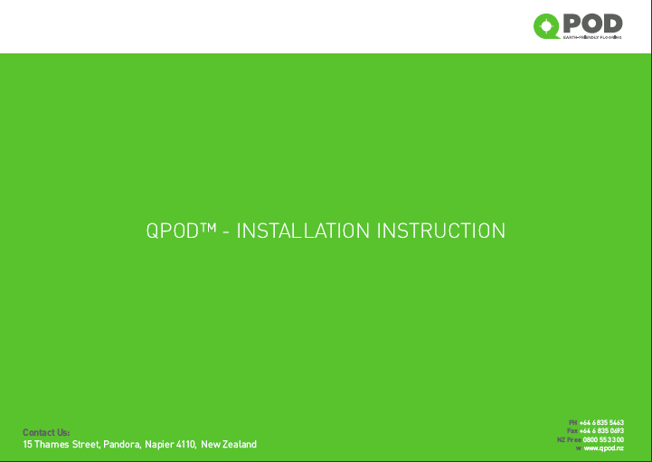 QPOD™ – Installation Guide