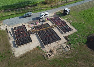 Aerial view of a QPOD floor