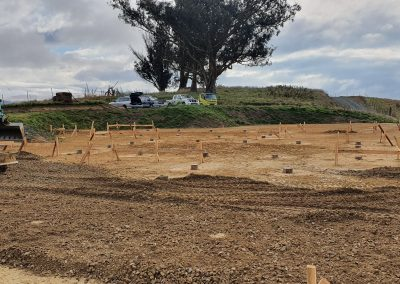 QPOD site prep with piles in place